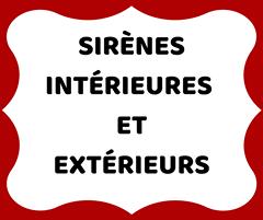 Sirènes intérieures et extérieures