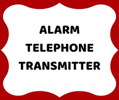 Alarm telephone transmitter